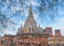 Thailand Pagoda. Thailand ancient pagoda in Ayutthaya Royalty Free Stock Images