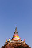 Thailand Pagoda. With blue sky background Stock Images