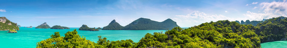 Thailand panorama. Thailand landscape panorama. Nature panorama Stock Photo