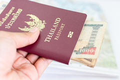 Thailand pass för turism med Nepalianmärkningar Royaltyfria Bilder