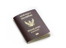 Thailand-Pass lokalisierte einen weißen Hintergrund Stockfotos