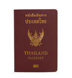 Thailand passport. Isolated on white background royalty free stock photos