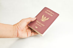 Thailand passport. On white background Royalty Free Stock Images