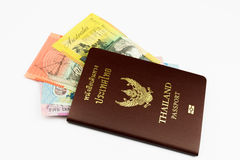 Thailand Passport with Australian Dollar Stock Image