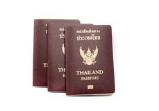 Thailand passport book on white Stock Images