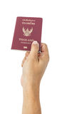 Thailand Passport and business hand for travel Royalty Free Stock Photos
