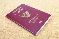 Thailand passport. Close up of Thailand passport royalty free stock images