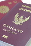 Thailand passport. Close - up at cover book of Thailand passport royalty free stock photo