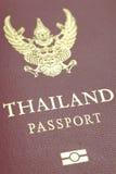 Thailand passport. Close - up at cover book of Thailand passport stock image
