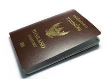 Thailand passport. A closeup picture of Thailand passport on white backgroung stock photos
