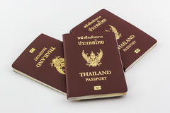 Thailand passport. Closeup Thailand passport on white background royalty free stock photo