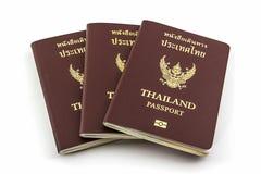 Thailand passport. Closeup Thailand passport on white background royalty free stock photos