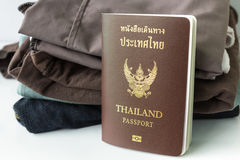Thailand Passport and clothes Royalty Free Stock Photos