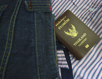 Thailand Passport  in denim jeans pocket Royalty Free Stock Image