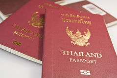 Thailand passport. Images suitable for advertising, such as tour operators. Foreign travel, etc stock photography