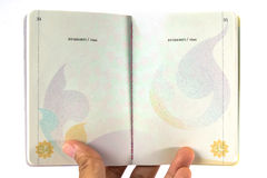 Thailand Passport inside Stock Images