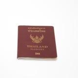Thailand passport isolated. On white stock photos