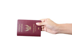 Thailand passport isolated Stock Photo