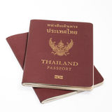 Thailand passport isolated. On white background stock images