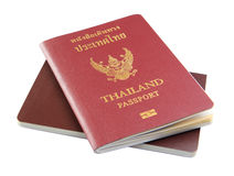 Thailand Passport. Isolated on white background royalty free stock image