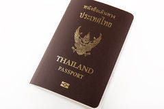 Thailand passport isolated. On white background stock photography