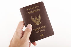Thailand passport isolated. On white background royalty free stock photography