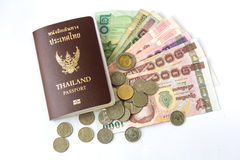 Thailand Passport and money royalty free stock photo