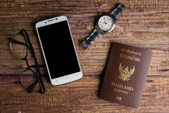 Thailand passport an official document issued by a government, c. Ertifying the holder's identity and citizenship and entitling them to travel under its royalty free stock image