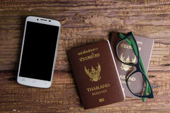 Thailand passport an official document issued by a government, c. Ertifying the holder's identity and citizenship and entitling them to travel under its stock photo