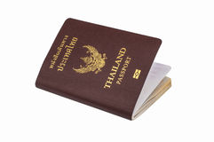 Thailand passport. Over white background Royalty Free Stock Photos