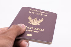 Thailand passport. Over white background Royalty Free Stock Image