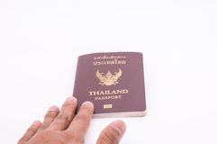 Thailand passport. Over white background Stock Images