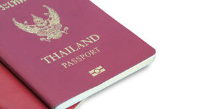 Thailand Passport on table. Over white royalty free stock image