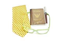 Thailand Passport, Travel International. Thailand Passport on white background, Travel International stock photography