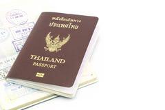 Thailand passport visa. Stamp isolated royalty free stock photo