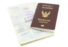 Thailand passport visa stamp isolated Royalty Free Stock Photo