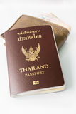 Thailand Passport and wallet Stock Images