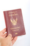 Thailand passport  on white background Stock Photos
