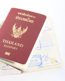 Thailand passport  on white background Stock Images