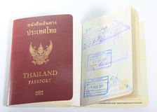 Thailand passport  on white background Royalty Free Stock Photography