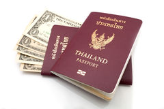Thailand passport. On white background Royalty Free Stock Photo