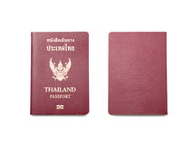 Thailand passport. On white background Stock Image