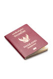Thailand passport. On white background Royalty Free Stock Image