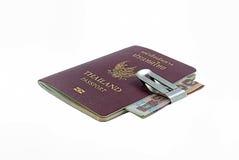 Thailand passport. With white background stock photos