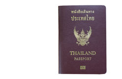 Thailand passport on white background with Clipping path. Thailand passport on white background stock images