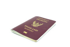 Thailand passport on white background isolated. Clear royalty free stock image