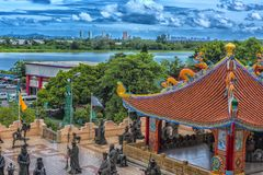 Anek Kuson Sala Pattaya,The Viharn Sien is a beautiful Chinese t stock photo