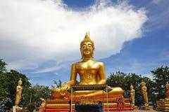 Thailand Pattaya the big Buddha temple. Thailand; Pattaya; view of a big seated Buddha inside the Wat Phra Yai or the temple of the Big Buddha situated near the Stock Image