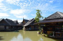 Thailand Pattaya Floating market. royalty free stock images