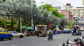 Thailand Pattaya gata Arkivfoton